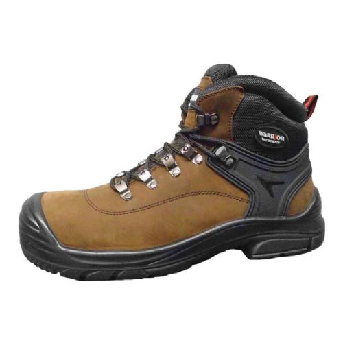 Warrior Brown Unisex Safety Hiker Boots